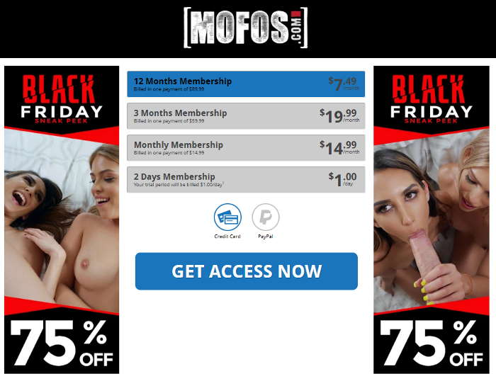 Mofos.com discount starting at $1 per day